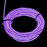 Esky ® 9ft Portable Neon Glowing Strobing Electroluminescent Wires (El Wire) with Many Color Options (Purple)