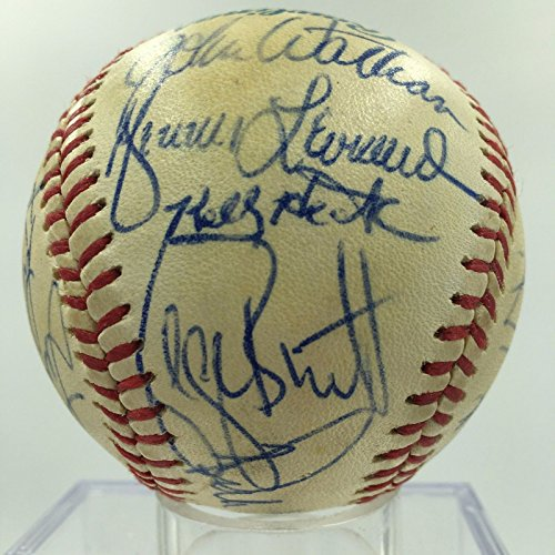 1982 Kansas City Royals Team Signed Autographed Game Used Baseball George Brett - George Autographed Baseball