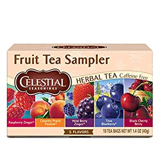 Celestial Seasonings Herbal Tea, Fruit Tea Sampler, 18 Count