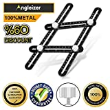 Upgraded Multi Angle Measuring Ruler - Heavy Duty Aluminum Alloy Angle Measurement Ruler- With Unique Line Level - Professional Template Tool for Builder, Carpenter, Craftsmen - by Empathy