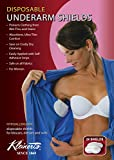 Disposable Womens Underarm Pads. Discreet, Comfortable, Sweat & Odor Free. Petite Contoured Shape. Exclusively for Women (Measures 3 3/4'' W x 4 7/8'' L) - Kleinert's