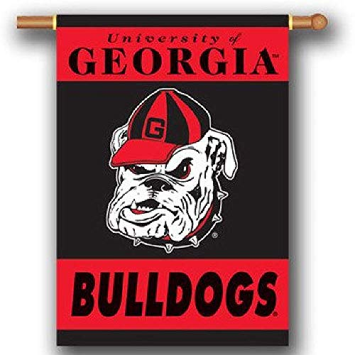 Georgia Bulldogs 96107 2-Sided 28-by-40 Inch House Banner with Pole -