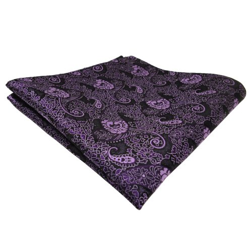 TigerTie pochette lila violet flieder Paisley - tissu Polyester