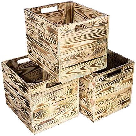 2 Cajas de 3 x 4 x 6 x 8 x 9 x Muebles de Estilo Vintage, 24 Cajas de Madera flameadas/cocidas para estantería de Kallax IKEA 33 cm 37,5 cm 32,5 cm: Amazon.es: Juguetes y juegos