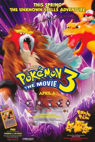 amazon com pokemon 3 the movie movie poster print posters prints