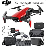 DJI Mavic Air Drone Quad copter FLY MORE COMBO (Flame Red) Travel Bundle