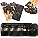Yoyorule 32pcs Professional Soft Cosmetic Eyebrow Shadow Makeup Brush Set Kit+Pouch Bag