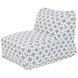 Majestic Home Goods Links Bean Bag Chair Lounger, Gray