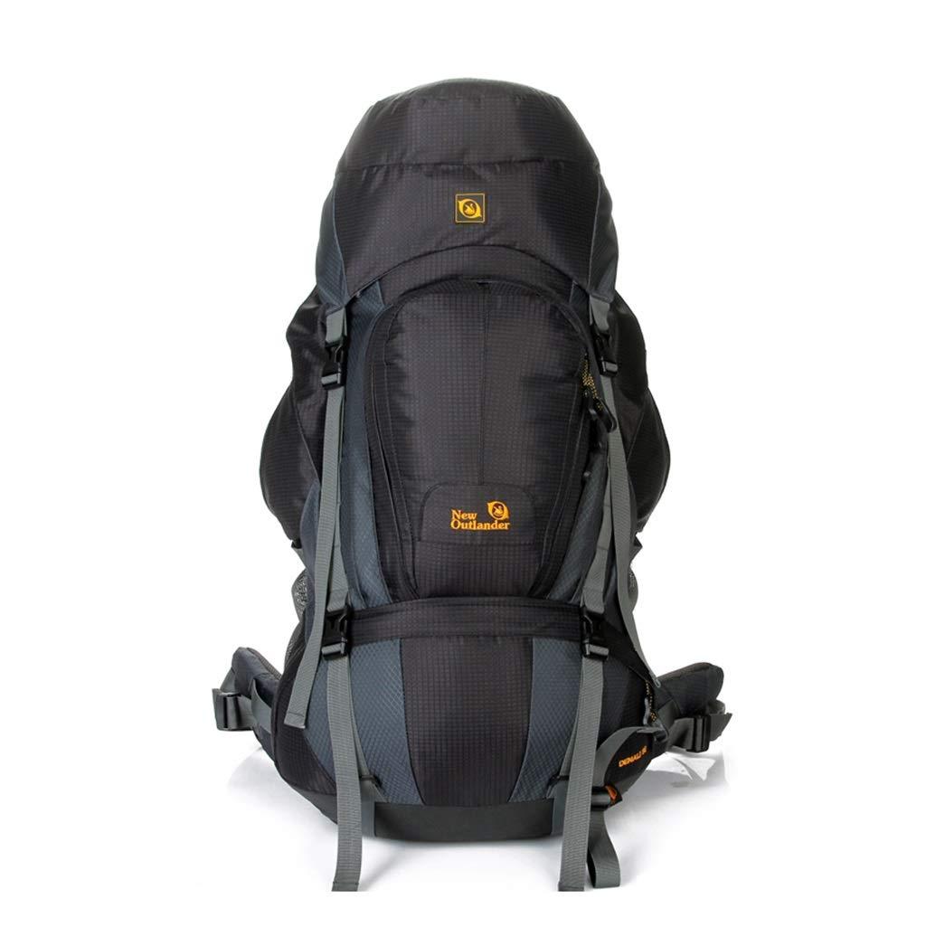 ココ80Lプロスポーツバッグ、超軽量アルミ合金フレーム防水ナイロン登山バッグ、旅行高性能の男性と女性のバックパック (色 : ブラック) B07QB7GLPX