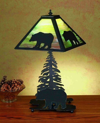 15.5 in. Lone Bear Accent Lamp