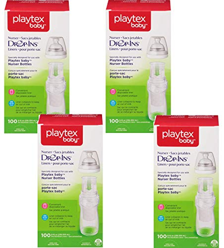 Playtex Disposable - Playtex Baby Nurser Drop-Ins Baby Bottle Disposable Liners, Closer to Breastfeeding, 400 Count