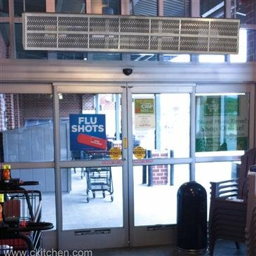 Curtron Products E-CFD-48-1-EH Heated Efficient Commercial Front Door Air