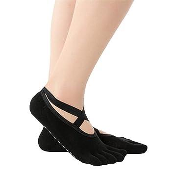 EABBY Algodón Calcetines de Yoga para Mujer Correas de ...