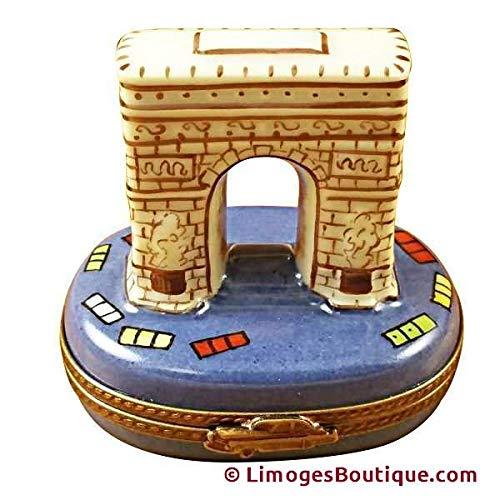 French Limoges Box - French Limoges Boxes Boutique ARCH DE TRIUMPH - LIMOGES PORCELAIN FIGURINE BOXES AUTHENTIC IMPORTS