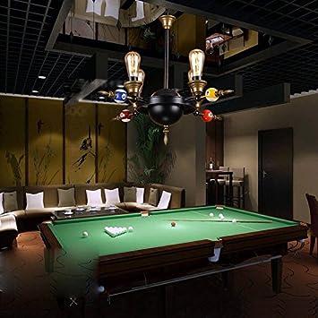 Home Lighting Lighting LUYIASI- Restaurante Estilo Americano Retro Industrial Sala de Estar Bar Club Habitación de Billar Barras de Billar Creativas de Hierro Lamps (Tamaño : 4 Cabezas): Amazon.es: Hogar
