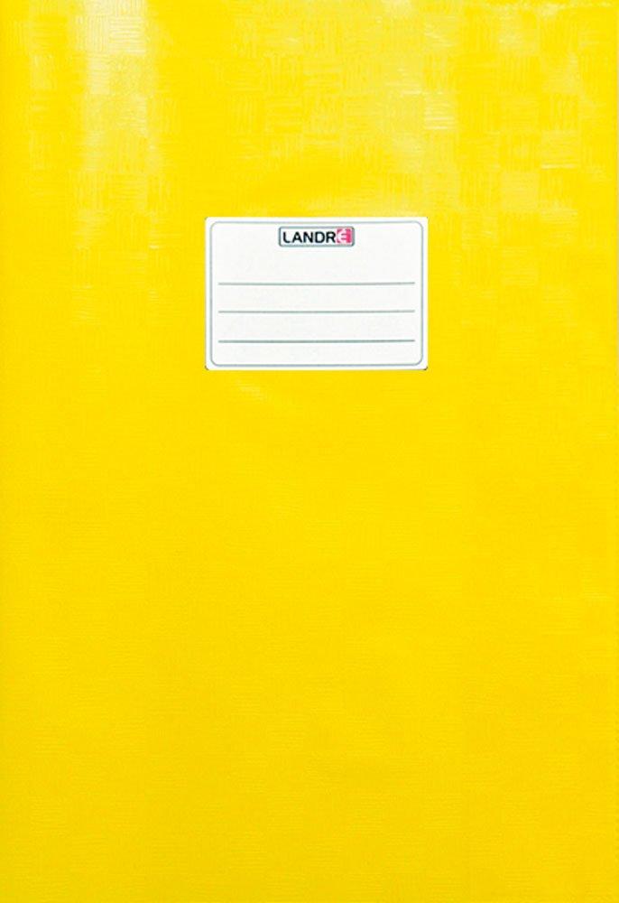 LANDRE 100420066 Hefth/ülle A4 10er Pack mit Namensschild gepr/ägt in Bast-Optik hellblau flexibel und abwischbar