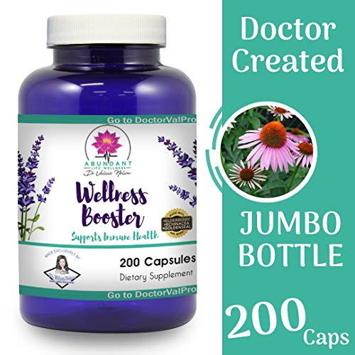 (Echinacea Elderberry Goldenseal & More - 200 Caps - Wellness Boosters - Thousands of Patients Love This - by Dr. Valerie Nelson)