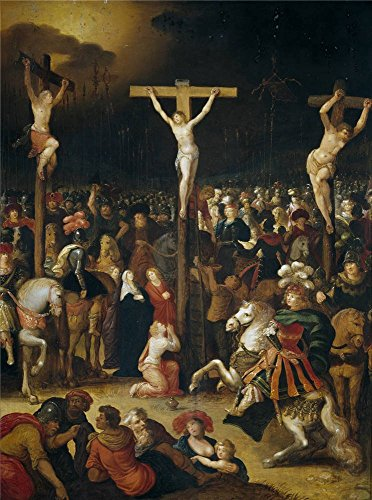 Oil Painting 'Caulery Louis De La Crucifixion ' Printing On Perfect Effect Canvas , 12 X 16 Inch / 30 X 41 Cm ,the Best Bedroom Decor And Home Decoration And Gifts Is This High Resolution Art Decorative Canvas Prints