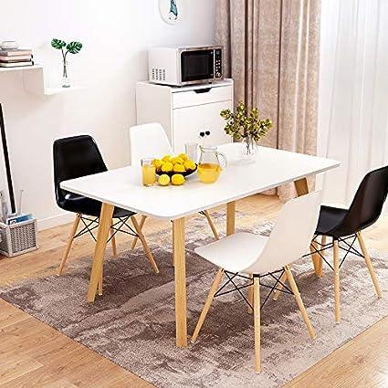 Mesa Huoduoduo, mesa de comedor de madera maciza, mesa de ...