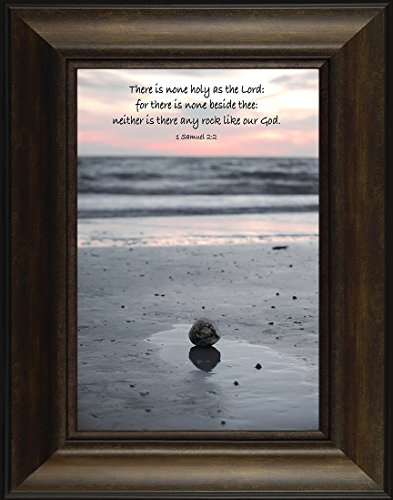Like a Rock By Todd Thunstedt 26x20 Samuel 2:2 Light Risen Sunset Pier Water Religious Bible Verse Quote Saying Jesus Framed Art Print Wall Décor Picture