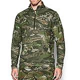 Under Armour Men's Threadborne Scent Control Fleece 1/4 Zip Top,Ridge Reaper Camo Fo (943)/Black, XXX-Large