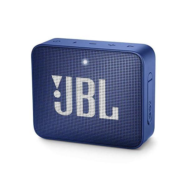 JBL Go 2 - Mini enceinte Bluetooth Portable - Étanche pour Piscine & Plage Ipx7 - Autonomie 5hrs - Qualité Audio JBL - Bleu 1