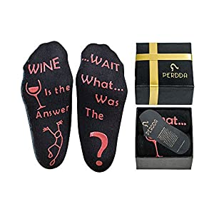 Wine Lover Gift for Women and Men – Gift Ready Wine Socks or Hug Socks with Novelty and Funny Saying – Unique and Hilarious Party, Birthday, Housewarming or Hostess Gift Idea for Humor Lovers