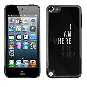 Plastic Shell Protective Case Cover || Apple iPod Touch 5 || Am Love Poster Quote Black White @XPTECH
