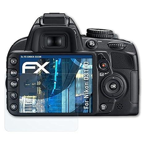 atFoliX Antichoque Película Protectora Compatible con Nikon D3100 ...
