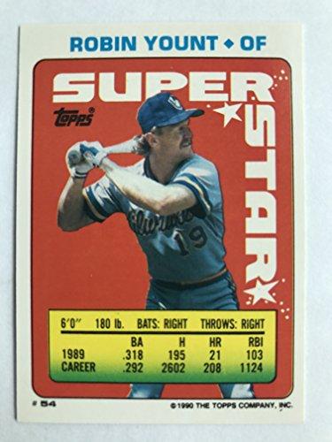 1990 Topps Sticker Backs #54(#23,#186) Robin Yount NM/M (Near Mint/Mint) ()
