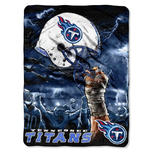 NFL Tennessee Titans 60-Inch-by-80-Inch Plush Rachel Blanket, Sky Helmet Design