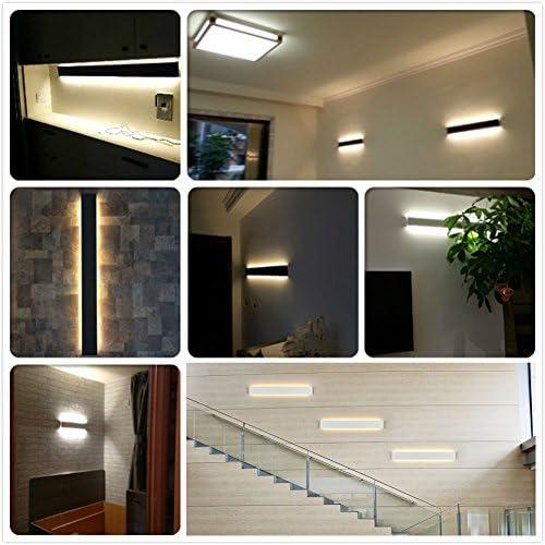 impermeabile IP44 61cm in alluminio applique per camera da letto K-Bright Applique a LED a parete bianco caldo 3000K colore shell: darkgray bagno specchio