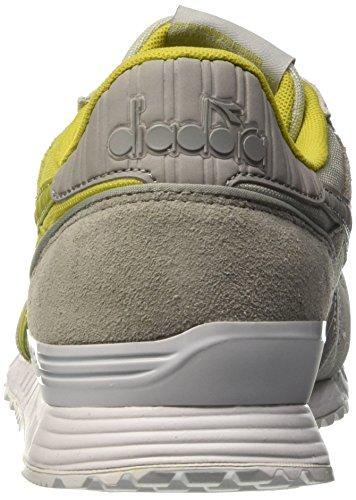 Diadora Titan Ii - Zapatillas de running de Material Sintético para hombre Multicolore (C6114 Grigio Roccia/Citronella)