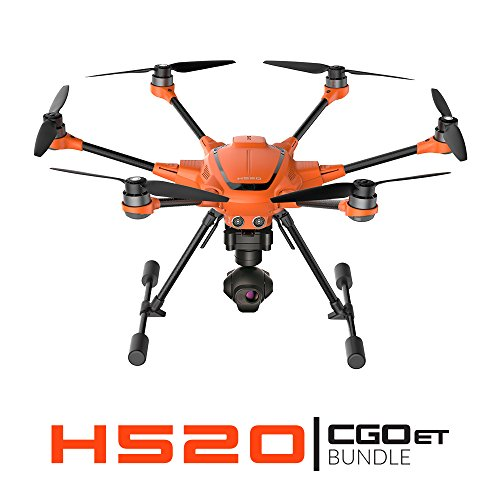 Yuneec H520 + CGOET Bundle | H520 airframe, CGOET 3-axis gimbal camera, ST16S, Three Batteries, Charger, Pelican Case, Lumecube, Hoodman Sunshade and more