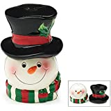 Snowman Head & Top Hat Salt & Pepper Shakers
