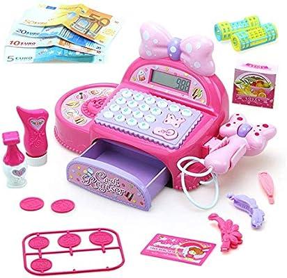 Bueno para el cerebro Las niñas juego Brain caja registradora papel Juguetes el juego de simulación niños Juguetes Inicio supermercado compras Conjunto Puesto de mercado de juguetes Compras Ventas Con: Amazon.es: Hogar