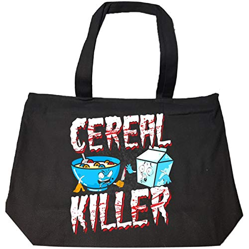 Funny Halloween Idea Cereal Killer Trick Or Treating - Tote Bag With Zip ()