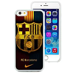 Personalized Iphone 6 Case Design with Fc Barcelona Iphone 6th 4.7 Inch TPU White Cell Phone Case