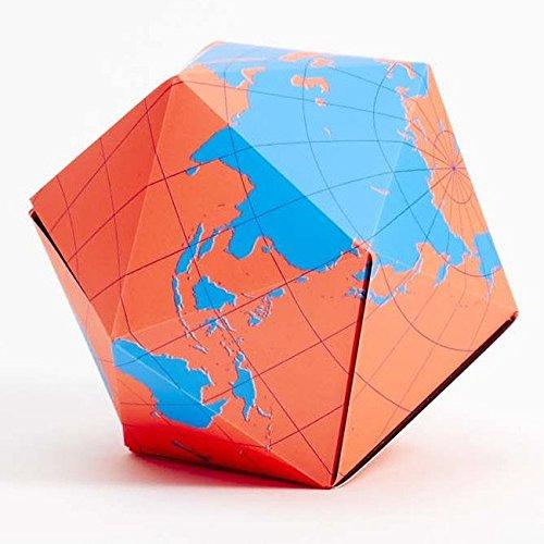 Dymaxion Folding Globe Blue and Orange Brain Teaser Magnetic Puzzle Magnetic Brain Teaser