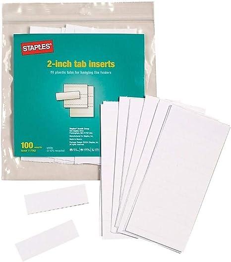 """492917 Staples Hanging Folder Tabs 3-1//2/"""" 50//Pack"""