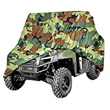 NEVERLAND 190T Polyester Lightweight Waterproof UTV Cover for Polaris Ranger XP 900 RZR Yamaha Rhino Can-Am Defender Honda Pioneer Kawasaki Mule Teryx Camouflage 2-3 Passenger