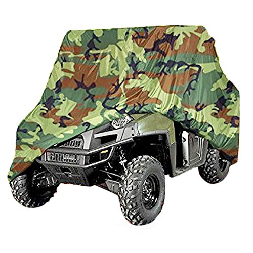 (NEVERLAND 190T Polyester Lightweight Waterproof UTV Storage Cover Universal Utility Large Vehicle Cover for Polaris Ranger XP 900 / RZR S 900 / RZR S 1000 EPS Camouflage)