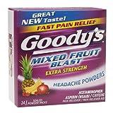 Goody's Headache Powders, Mixed Fruit Blast 24 ea(Pack of 3)