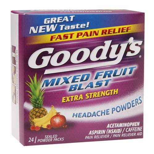 Goody's Headache Powders, Mixed Fruit Blast 24 ea(Pack of 3) by Cafetec WALKINGLY
