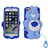 3d rain - Rain Bear iPhone 6s Case, iPhone 6 Silicone 3D Cartoon Animal Cover, Kids Girls Cute Gift Kawaii Soft Gel Rubber Unique Character Fashion Shell Skin Back Protector+Finger Ring for iPhone6 4.7