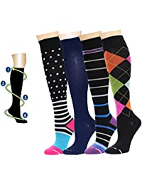 4 Pairs Dr. Motion Therapeutic Graduated Compression...