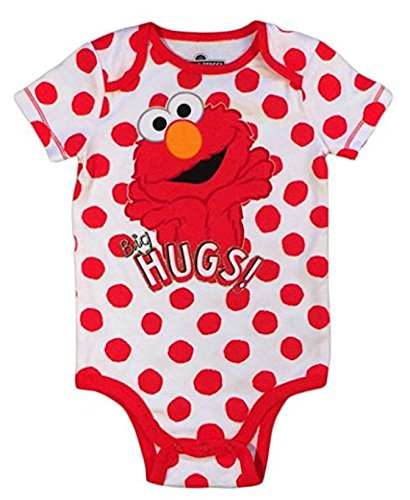 (Sesame Street Baby Girls Elmo One Piece Snap Bodysuit (6-9 Months))