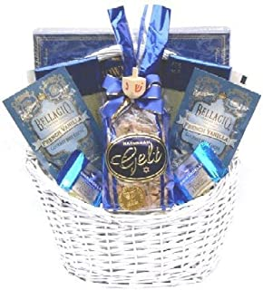 Amazon hanukkah gift baskets in a petite 8 wooden tray gift basket village eight days of hanukkah gift basket negle Image collections