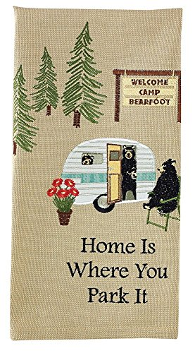 'Home is Where You Park It' Dish Towel