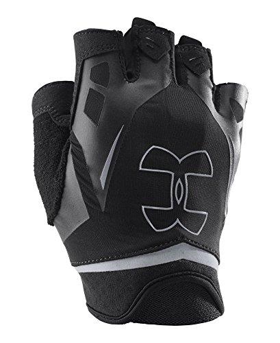 Under Armour Men's Flux Half-Finger Training Gloves, Black/Black, Medium
